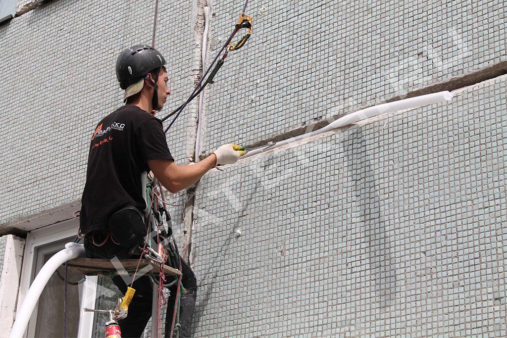Герметизация швов сип панелей